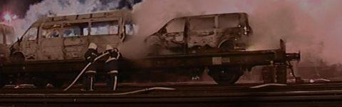 v primeru železniških nesreč,