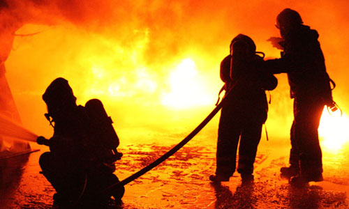 gasilci koper pozar